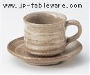刷毛目コーヒー C/S(碗と受け皿セット)