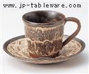 粉引刷毛目コーヒーC/S(碗と受け皿セット)