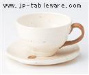 粉引点紋コーヒーC/S(碗と受け皿セット)