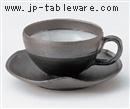 黒陶コーヒー碗 C/S(碗と受け皿セット)