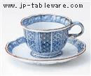 手描平安花鳥コーヒーC/S(碗と受け皿セット)