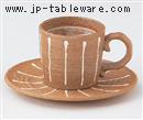 一珍十草コーヒーC/S(碗と受け皿セット)