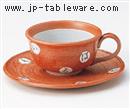 いろは(赤)コーヒーC/S(碗と受け皿セット)