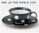 いろは(黒)コーヒーC/S(碗と受け皿セット)