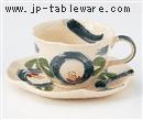 はなまる(青)コーヒーC/S(碗と受け皿セット)