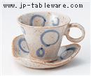 手ひねり風船碗皿(碗と受け皿セット)