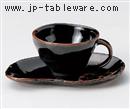 天目木の葉コーヒーC/S(碗と受け皿セット)