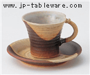 灰釉掛分コーヒーC/S(碗と受け皿セット)