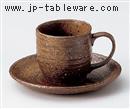 備前風コーヒーC/S(碗と受け皿セット)