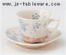 平安桜コーヒーC/S(青)(碗と受け皿セット)