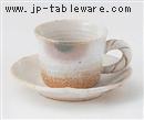 白釉オリベコーヒーC/S(碗と受け皿セット)