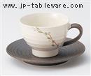 手描きつる草丸コーヒーC/S(碗と受け皿セット)