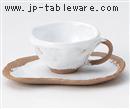 白志野コーヒーC/S(碗と受け皿セット)