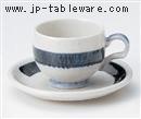 一文字コーヒーC/S(碗と受け皿セット)