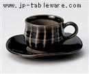 織部十草コーヒー碗 C/S(碗と受け皿セット)
