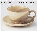 粉引塗分コーヒーC/S(碗と受け皿セット)