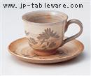 古萩彫蘭コーヒーC/S(碗と受け皿セット)
