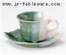 織部木の葉コーヒーC/S(碗と受け皿セット)