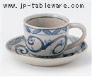 唐草コーヒーC/S(碗と受け皿セット)