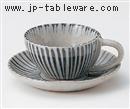 二色内外十草コーヒーC/S(碗と受け皿セット)