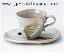 さざ波白コーヒーC/S(碗と受け皿セット)