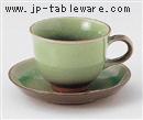 もえぎコーヒーC/S(碗と受け皿セット)