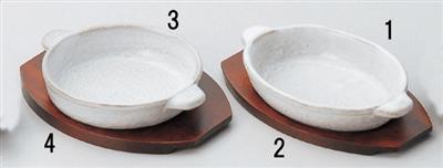 白釉オーバルグラタン