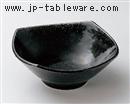 黒織部5.0四方深鉢