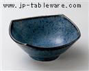 窯変ブルー5.0四方深鉢