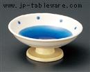 渕水玉トルコ高台小鉢