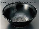 黒釉銀竜紋6.8高台丼