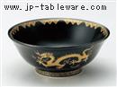 黒釉金龍6.8高台丼