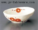 二色梅楕円鉢
