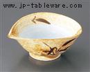茶笹青釉ねじり中鉢