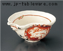 赤絵丸紋片口鉢