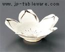 白志野桜型小鉢