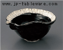 黒オリベ十草片口鉢
