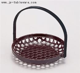 竹かご マロン(折畳式) 5寸