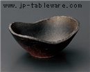 備前風楕円鉢(中)