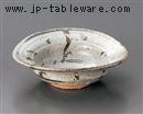 ねずみ志野鉄唐草楕円小鉢
