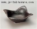 黒白吹四方鉢(小)