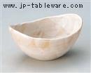 赤志野玉型鉢小