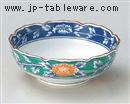 緑濃牡丹小鉢