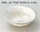 粉引魚紋反小鉢