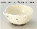 白釉鉄入片口小鉢
