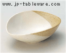 粉引塗り分4.8鉢