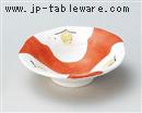 手描き椿4寸平鉢