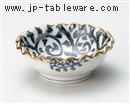 手描唐草菊型小鉢