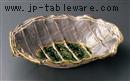 志野織部尺盛鉢