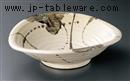 織部ちらし楕円盛り鉢